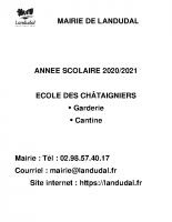 modalités pratiques 2020-2021