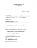 Procès verbal conseil municipal Landudal 21 septembre 2020
